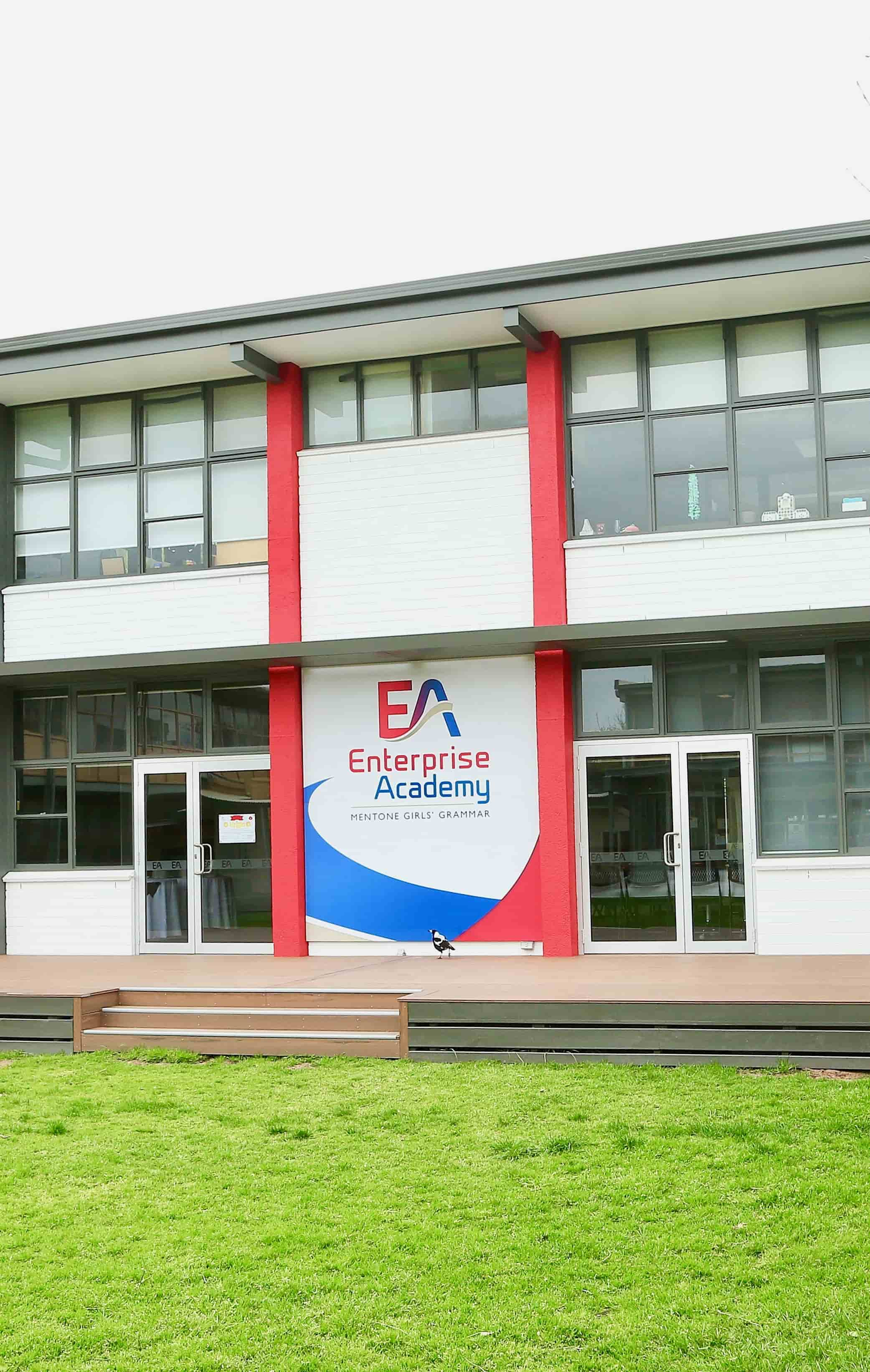 enterprise academy sign